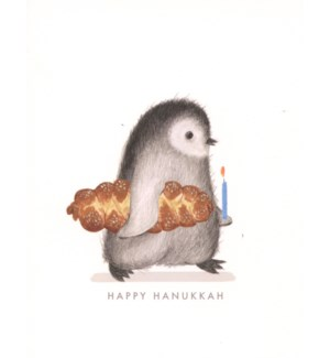 Penguin with Challah Bread|Dear Hancock