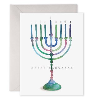 Colourful Menorah|E Frances Paper