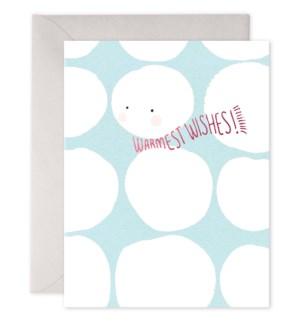 Warmest Wishes Snowballs 4.25x5.5 |E Frances Paper