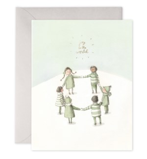 Joy to the World  4.25x5.5|E Frances Paper