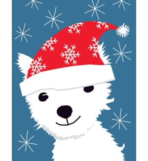 christmas terrier 4.25x5.5|Great Arrow