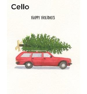CELLO-Red Wagon Tree|Halfpenny