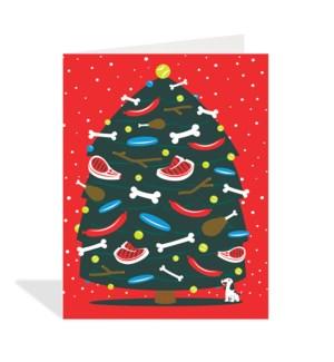 Dog Christmas Tree Halfpenny