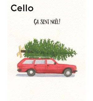 French Wagon and Tree CELLO 5|Halfpenny