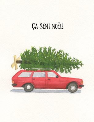 French Wagon and Tree|Halfpenny