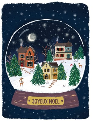 French Snow Globe Houses|Halfpenny