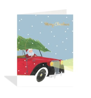 CELLO-Santa with Tree on Roof|Halfpenny