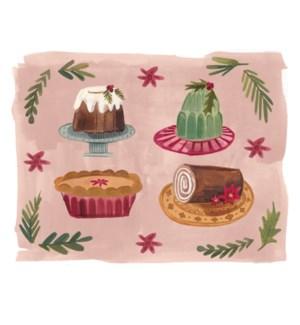 Retro Christmas Cakes Halfpenny