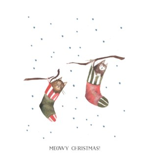Meowy Christmas Stockings|Halfpenny