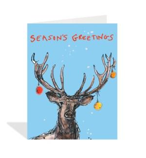 Seasons Greetings Reindeer|Halfpenny