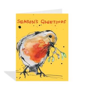 Seasons Greetings Robin|Halfpenny