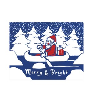 Santa in Canoe|Halfpenny