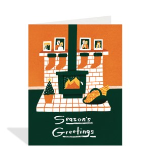 Fireplace and Stockings|Halfpenny