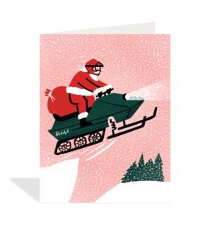 Santa on Snowmobile|Halfpenny
