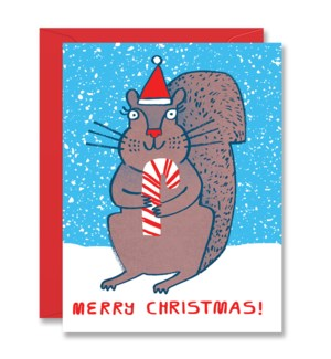 Squirrel with Candy Cane|Halfpenny