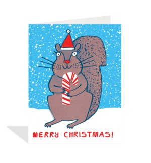CELLO-Squirrel with Candy Cane|Halfpenny