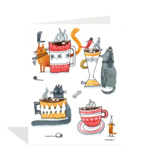 Animals Drinking Cocoa|Halfpenny