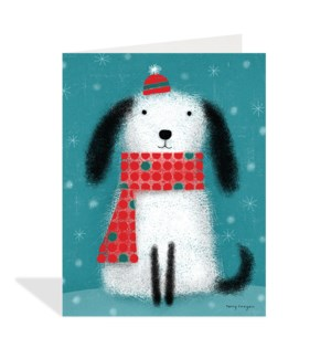 Dog in Hat and Scarf|Halfpenny
