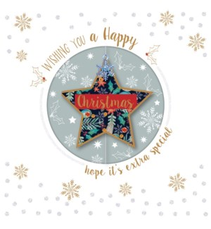 Christmas Star Sm Luxe Acetate box of 5 4.5x4.5|Ling Design