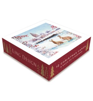 Winter Wildlife Deluxe Small 4 ea of 3  4.5x4.5|Ling Design