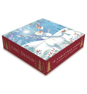 Frosty Snowmen Deluxe Small 4 ea of 3  4.5x4.5|Ling Design