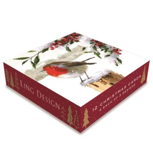 Christmas Eve Deluxe Small 4 ea of 3  4.5x4.5|Ling Design