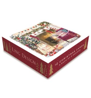 All Set For Christmas Deluxe Small 4 ea of 3  4.5x4.5|Ling D