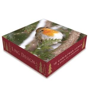 Christmas Robins Acetate 4 ea of 3 6x6|Ling Design