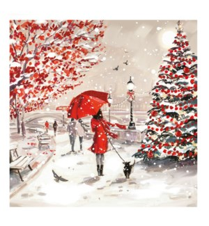 A Winter Walk Deluxe Acetate 5 ea of 1 6x6|Ling Design