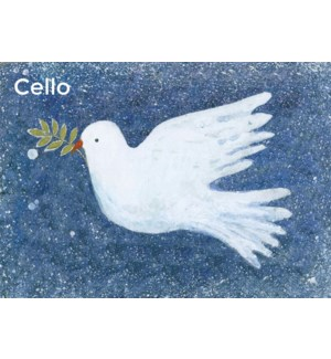 CELLO Dove With Mistletoe Museums and Galleries