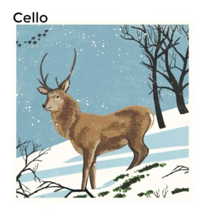 CELLO Stag in the Snow Museums and Galleries