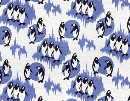 Penguin Furnishing Fabric |Museums & Galleries