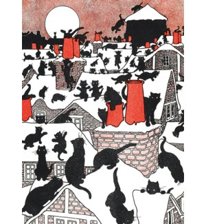 A Black Cat Holiday/Cello Pk Of 8|Museums Galleries