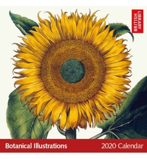British Library Botanical Illustrations 2020 Calendar|Museum