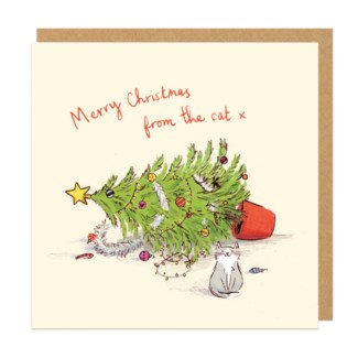 Merry Christmas From The Cat 6x6 Ohh Deer