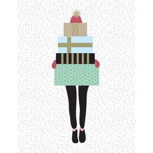 Girl With Presents French BOX 15|Paper E. Clips