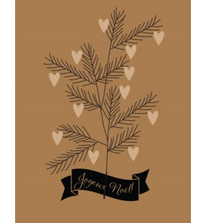 Heart Branch Joyeux Noel French BOX 15|Paper E. Clips