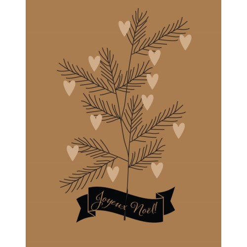 Heart Branch Joyeux Noel French BOX 15 Paper E. Clips