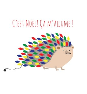 Hedgehog Cest Noel Ca Mallume French BOX 15|Paper E. Clips