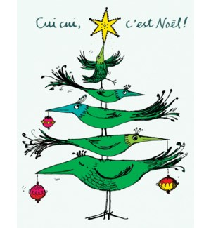 Bird Xmas Tree French BOX 15|Paper E. Clips