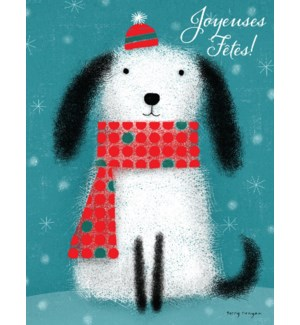 Dog in Hat and Scarf French BOX 15|Paper E. Clips