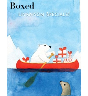 French Polar Bear Canoe BOX 15|Paper E Clips