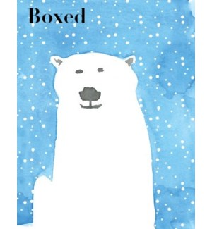 French Watercolour Polar Bear BOX 15|Paper E Clips