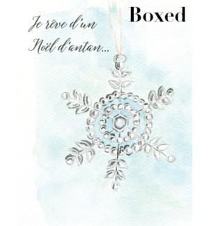 French Snowflake Ornament BOX 15|Paper E Clips