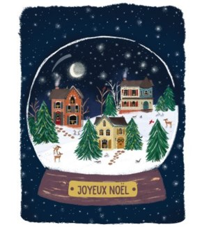 Neighbourhood Snow Globe French BOX 15|Paper E Clips