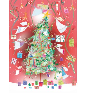 ADVENT CARD-Angels Decorating Tree|Real and Exciting