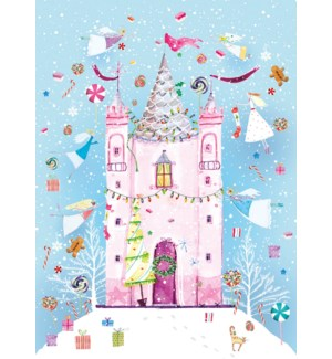 ADVENT CARD-Pink Castle|Real and Exciting