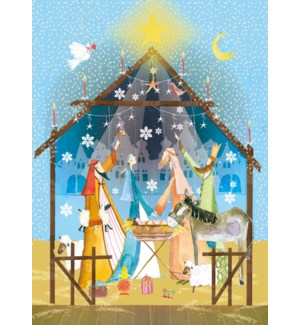 ADVENT CARD-Nativity Advent Card|Real and Exciting