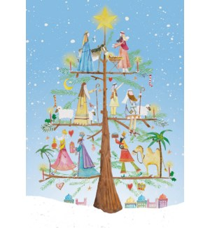ADVENT CARD-Wiseman Tree|Real and Exciting
