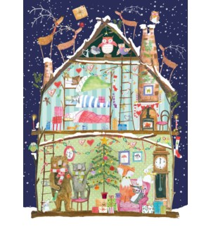 ADVENT CARD-Christmas House|Real and Exciting